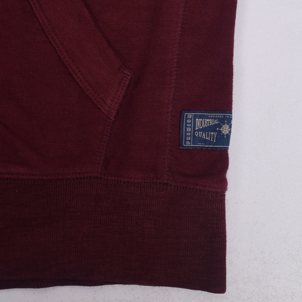 Men's Henry James zip through Hoodie - Burgundy - klashcollection - 3