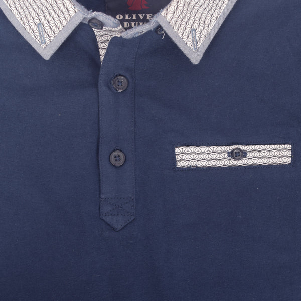 Kids Oliver Duke Gingham Collar with contrast Pocket Polo Shirt - klashcollection - 2