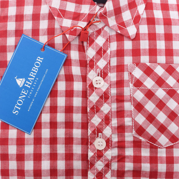 Copy of Kids Stone Harbor Hilton Casual shirt - Red/White - klashcollection - 2
