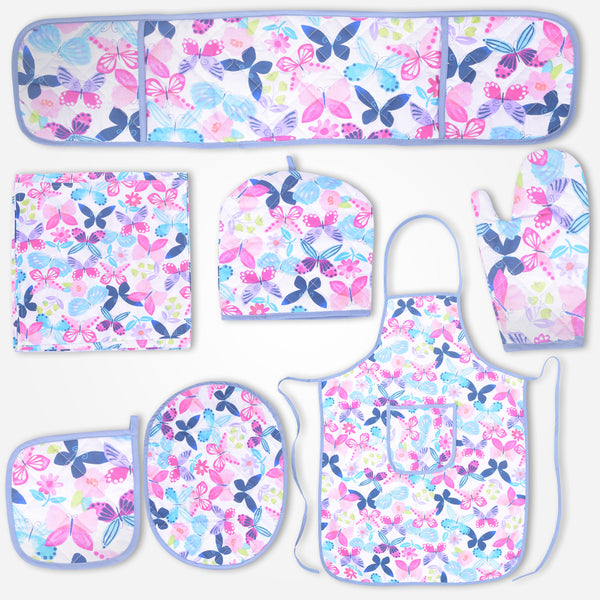 Galaxy Pink Floral Kitchen Accessories Set - klashcollection - 1