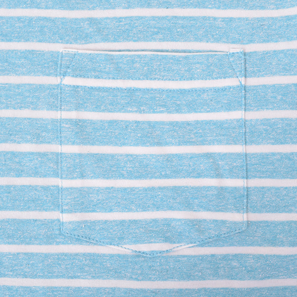 Boys Oliver Duke Turq summer Striped Tee Shirt - klashcollection - 3