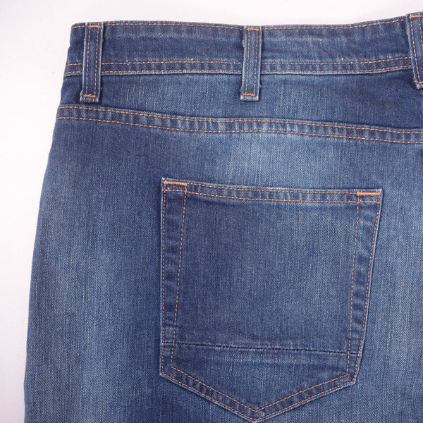 "Men's ""Derssmann"" Mid Wash Slim Straight 5 Pocket Stretch Denim - klashcollection - 3"