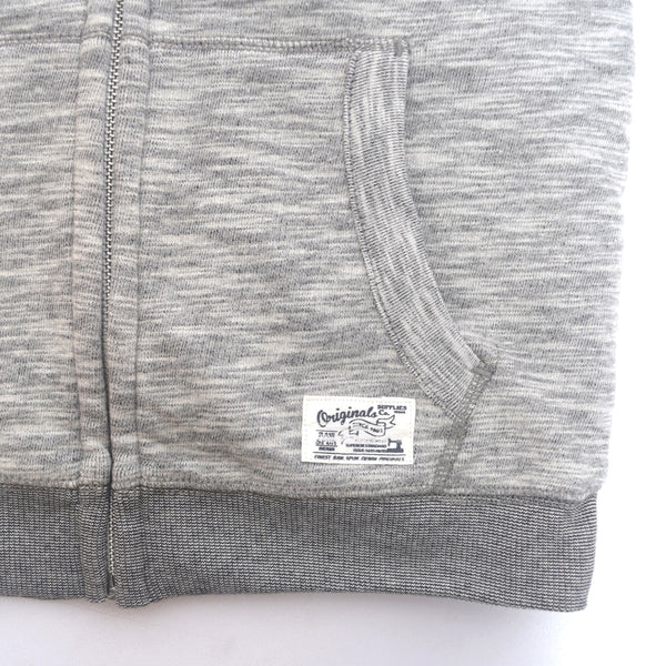 Copy of Kids Oliver Duke ORIGINAL Fur Lined Zip through Hooded - Slub Grey Marl - klashcollection - 3