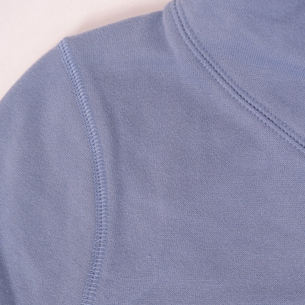 Ladies Turtle Neck Pull Over Hooded - Light Indigo - klashcollection - 3