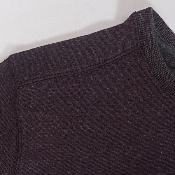 Men's Henry James long sleeve Melange Henley - Dark Wine - klashcollection - 3