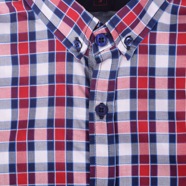 "Men's "" Stone Harbor"" Red Checked Casual Shirt - klashcollection - 2"