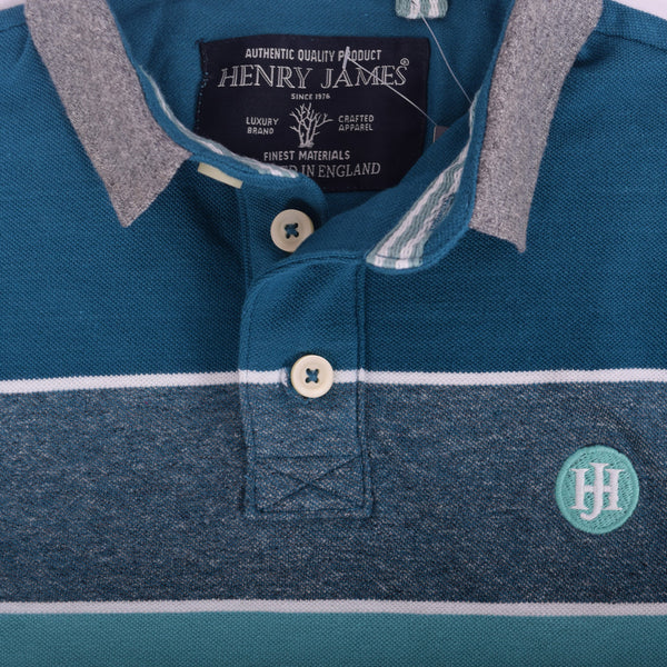 Men's Henry James Colored Block Striped Signature Polo Shirt - klashcollection - 4