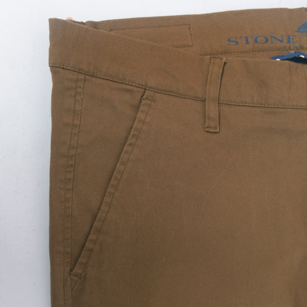 "Men's ""Stone Harbor"" Slim fit Cotton Chino Pant - Chocolate Brown - klashcollection - 3"