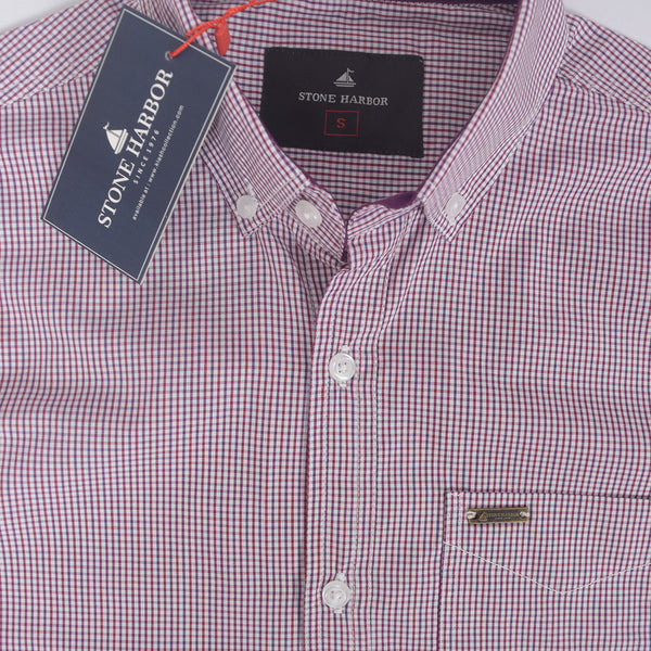 Men's Stone Harbor Thin check casual shirt - klashcollection - 3
