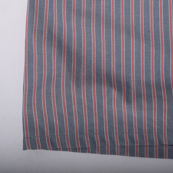 Men's Stone Harbor Red Grey Scale Striped Woven Boxer Short - klashcollection - 3