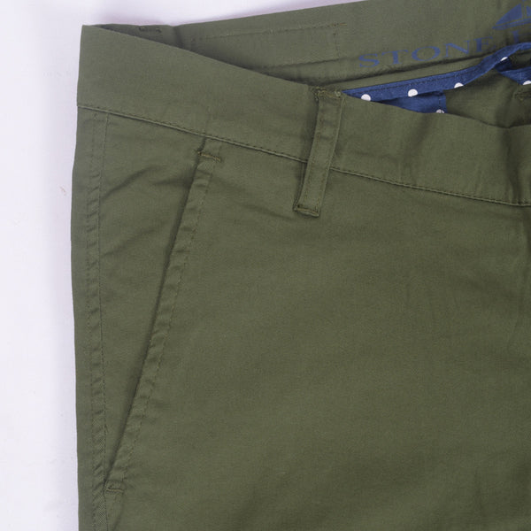 "Copy of Men's ""Stone Harbor"" Slim fit Cotton Chino Pant - Army Green - klashcollection - 3"