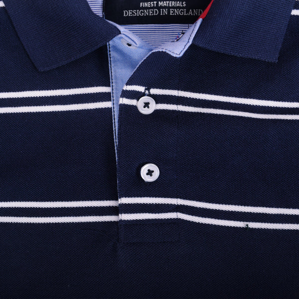 Men's Henry James Twin Striped Polo Shirt - klashcollection - 2