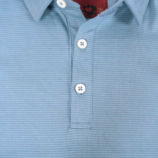 Men's Henry James dyed Yarn Thin stripe Jersey Polo shirt - DK - Shadon - klashcollection - 4