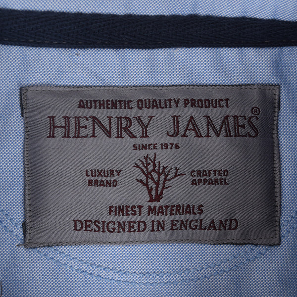 Copy of Men's Henry James Jacquard Heavy Jersey Self Collar Printed Polo - Grey Marl - klashcollection - 6