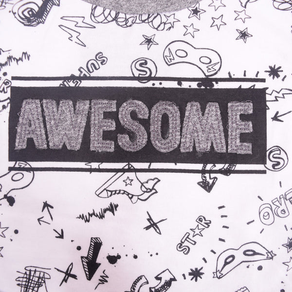 "Kids Oliver Duke ""Awesome"" Graphic T-Shirt - klashcollection - 5"