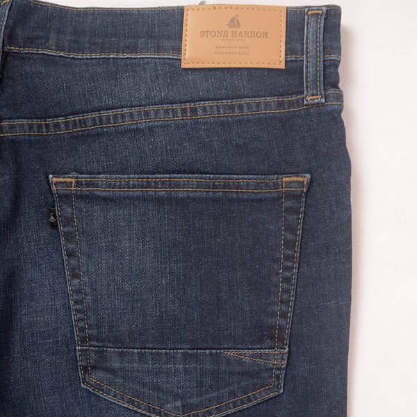 Men's Stone Harbor Vintage Wash Straight Fit Light Weight Denim - klashcollection - 5
