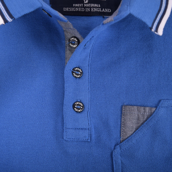 Men's Henry James Crooker Tipped Collar Pocket Polo Shirt - klashcollection - 4