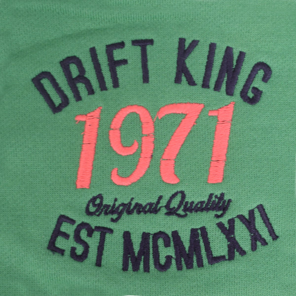 Copy of Men's DRIFT KING  Zip Through Hooded - Emerald Green - klashcollection - 4