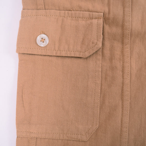 Men's Henry James Khaki Cargo Shorts - klashcollection - 4