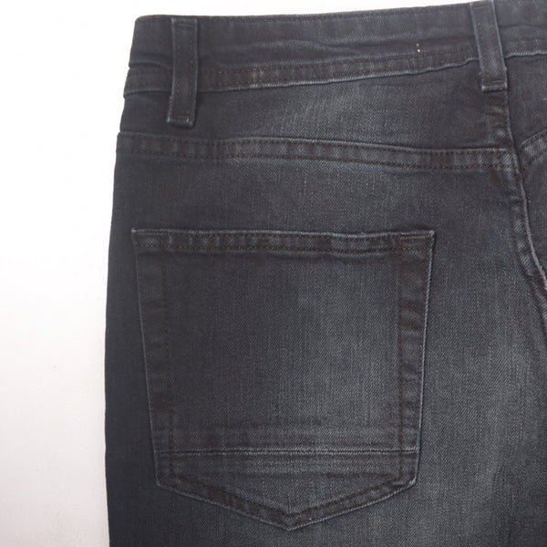 "Men's ""Dressmann"" Texas Black Fade Washed Stretch Denim - klashcollection - 4"