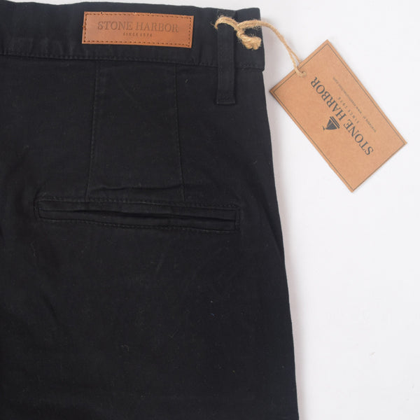 "Men's ""Stone Harbor"" Slim fit Cotton Chino Pant - Jet Black - klashcollection - 4"