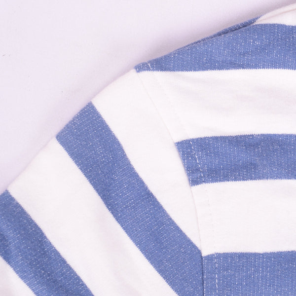 Ladies TAGG Zip Through Striped Hooded - White/Blue - klashcollection - 2