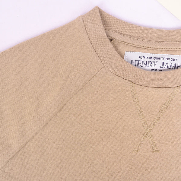 Men's Henry James Crew neck Raglan sleeve sweatshirt - Stone - klashcollection - 4