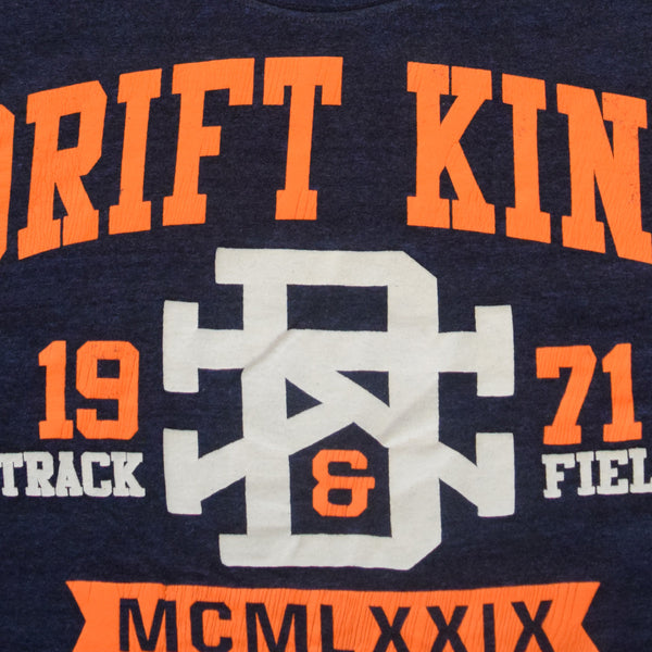 "Men's Henry James "" DRIFT KING""Graphic T-Shirt  - Denim Blue"