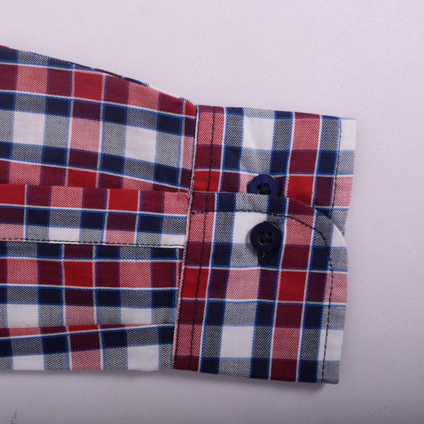 "Men's "" Stone Harbor"" Red Checked Casual Shirt - klashcollection - 4"