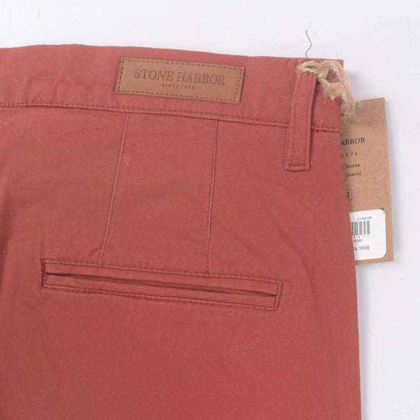 "Men's ""Stone Harbor"" Slim fit Cotton Chino Pant - Burnt Orange - klashcollection - 4"