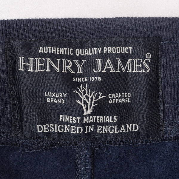 Men's Henry James  slogan print trousers - Navy Blue - klashcollection - 4