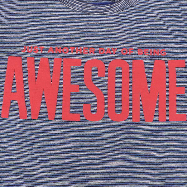 "Kid's Henry James ""AWESOME"" printed crew neck T shirt"