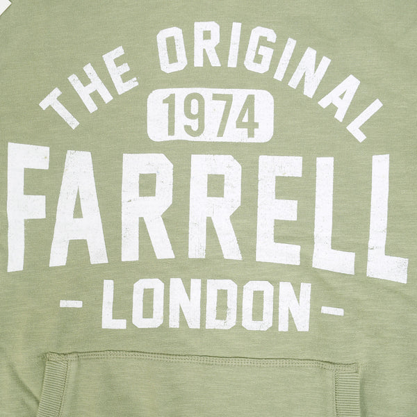 Men's Henry James FARRELL Pullover Graphic Hoodie - Khaki Green - klashcollection - 4