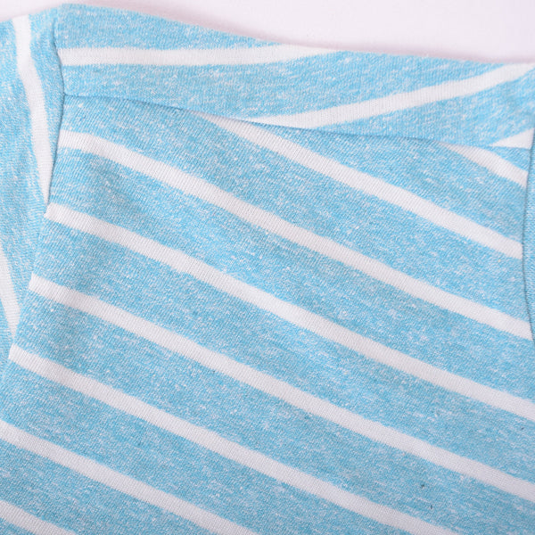 Boys Oliver Duke Turq summer Striped Tee Shirt - klashcollection - 4