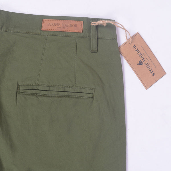 "Copy of Men's ""Stone Harbor"" Slim fit Cotton Chino Pant - Army Green - klashcollection - 5"