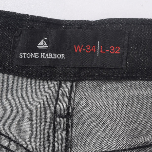 Copy of Men's Stone Harbor Rinse Wash Solid Black Straight  Dynamic Stretch Denim - klashcollection - 6