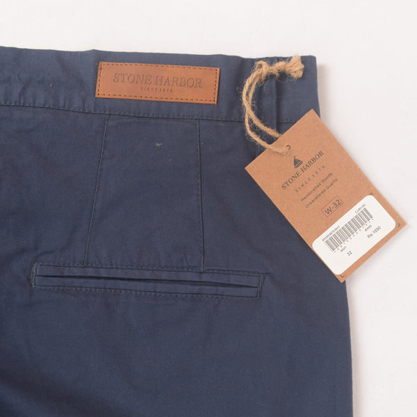 "Men's ""Stone Harbor"" Slim fit Cotton Chino Pant - Executive Navy - klashcollection - 5"
