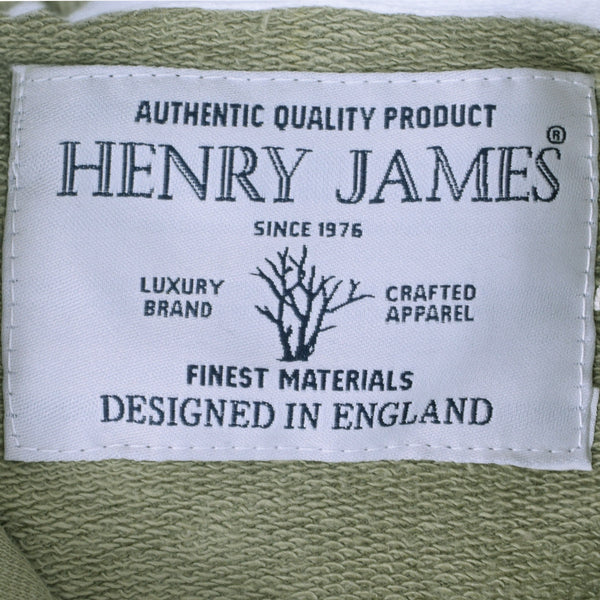 Men's Henry James FARRELL Pullover Graphic Hoodie - Khaki Green - klashcollection - 5