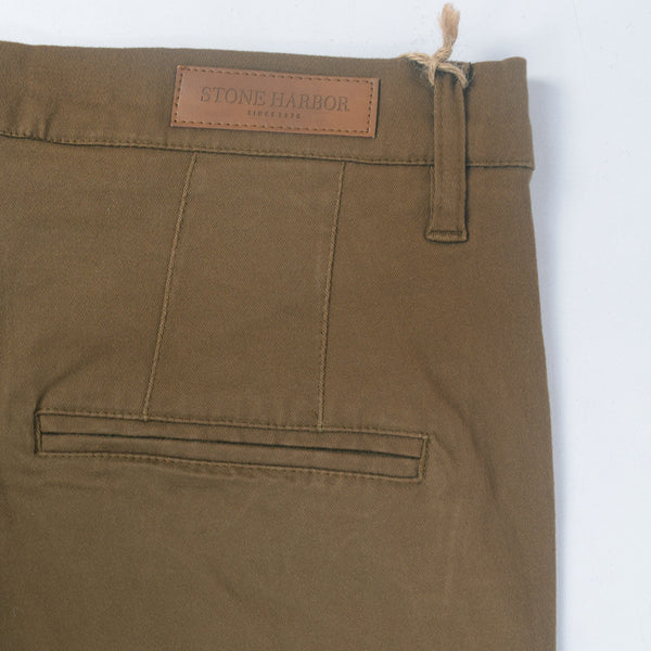 "Men's ""Stone Harbor"" Slim fit Cotton Chino Pant - Chocolate Brown - klashcollection - 5"