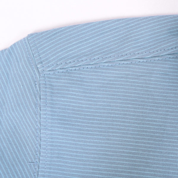 Men's Henry James dyed Yarn Thin stripe Jersey Polo shirt - DK - Shadon - klashcollection - 6