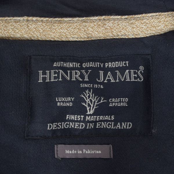 Men's Henry James HOGAN Zipper Hoodie - Washed Navy - klashcollection - 4