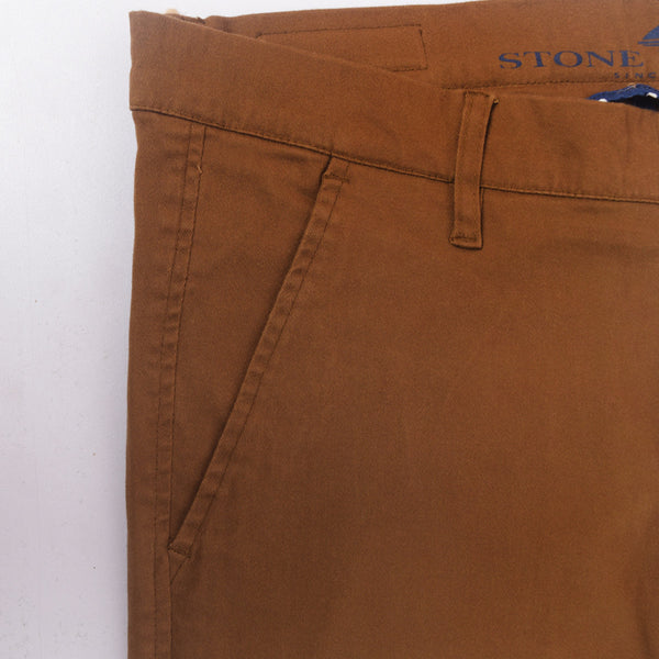"Men's ""Stone Harbor"" Slim fit Cotton Chino Pant - Dark Brown - klashcollection - 4"
