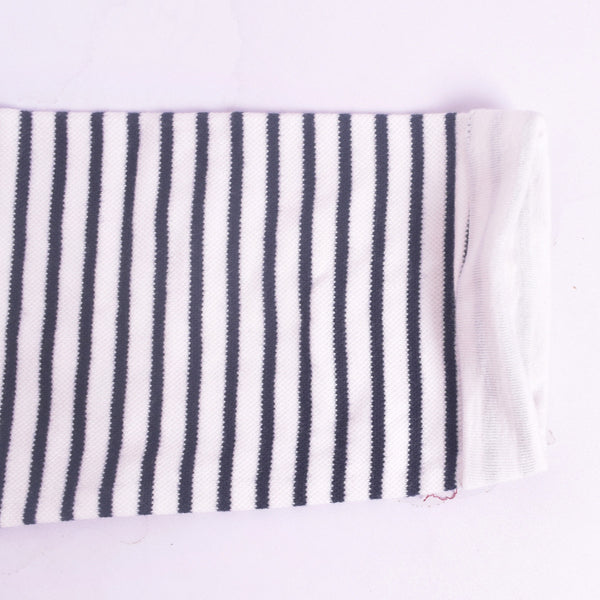 Ladies TAGG textured striped  fabric pocket crew  - Navy/White - klashcollection - 5