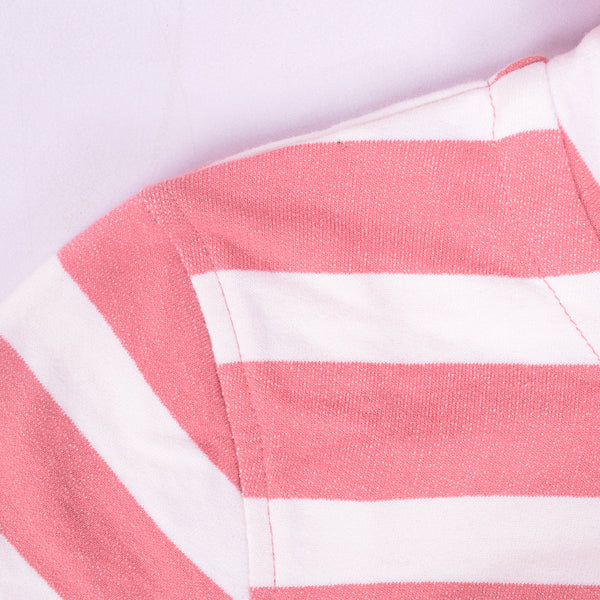 Ladies TAGG Zip Through Striped Hooded - White/Pink - klashcollection - 6
