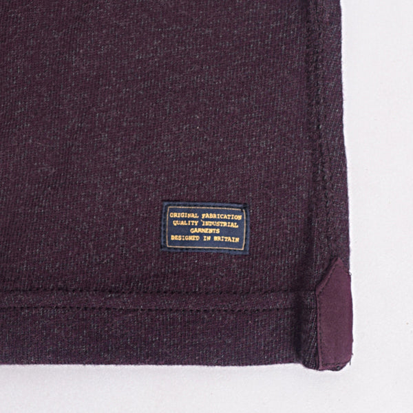 Men's Henry James long sleeve Melange Henley - Dark Wine - klashcollection - 5