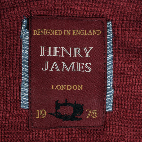 Men's Henry James Kangaroo pocket hoodie - Burgundy - klashcollection - 5