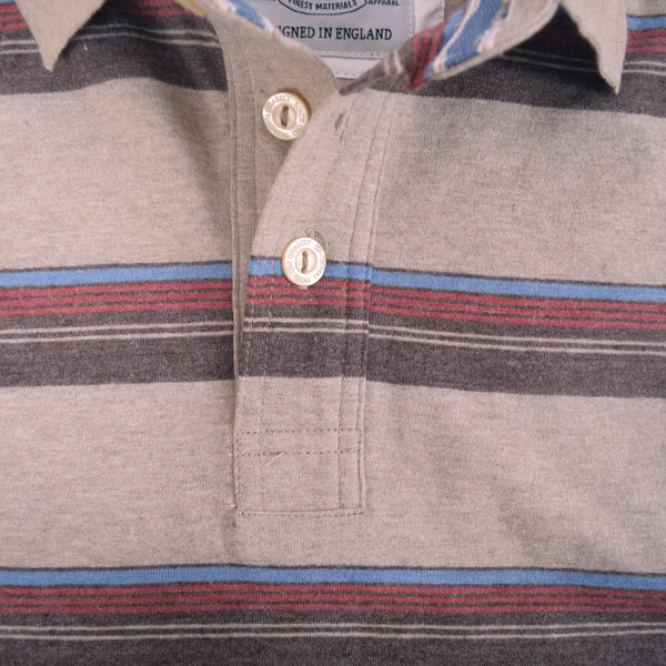 Men's Henry James Mixed Striped Cotton Polo Shirt - klashcollection - 5