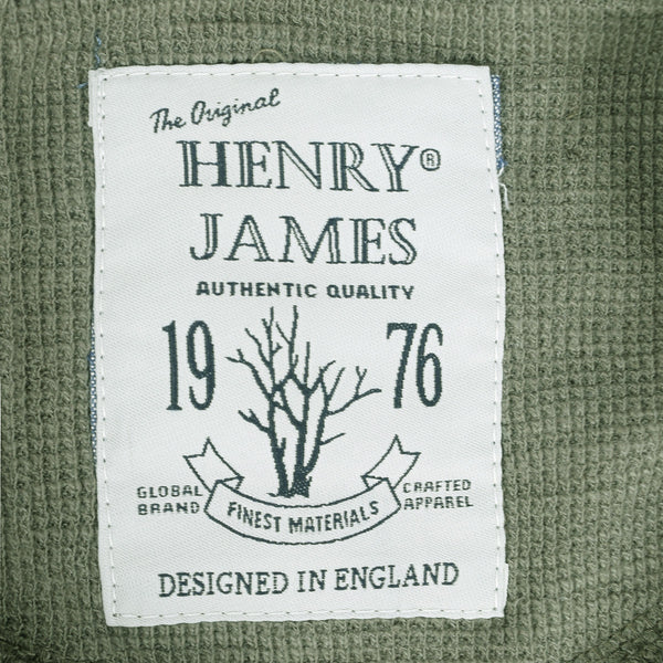 Men's Henry James Kangaroo pocket hoodie - Khaki Green - klashcollection - 5