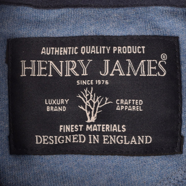 Men's Henry James Long sleeve Rugby shirt - Blue/Sky - klashcollection - 6