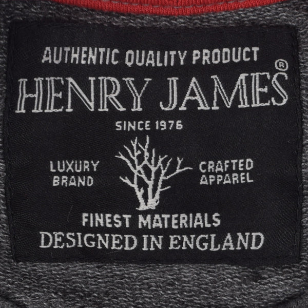 Kids Henry James Flock Print long sleeve Sweatshirt - Charcoal - klashcollection - 6